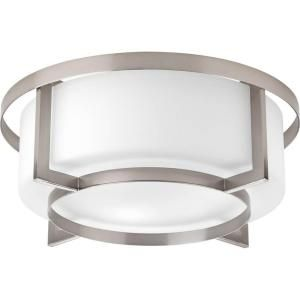 Progress Lighting Dynamo Collection 4 Light Brushed Nickel Flushmount P3976 09