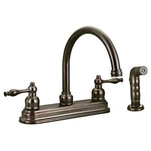 Design House Saratoga 2 Handle Side Sprayer Kitchen Faucet in Brushed Bronze DISCONTINUED 528067