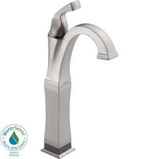 Delta Dryden Single Hole 1 Handle High Arc Bathroom Faucet in Stainless with Touch2O.xt Technology 751T SS DST