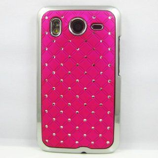 Hot Pink Luxury Diamond Bling Hard Shell Back Cover Case Skin For HTC Desire HD G10 Cell Phones & Accessories