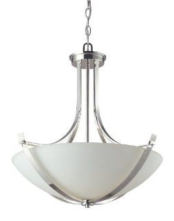Z Lite 605P Ellipse Three Light Pendant, Steel Frame, Chrome Finish and Matte Opal Shade of Glass Material