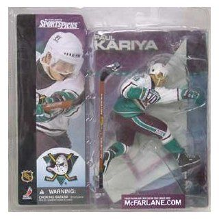 McFarlane Toys NHL Sports Picks Series 1 Action Figure Paul Kariya (Anaheim Mighty Ducks) White Jersey SUPER CHASE Toys & Games