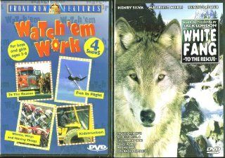 Watch 'Em Work (4 Shows) & White Fang To The Rescue   2 Seperate Kids & Family DVDs Movies & TV