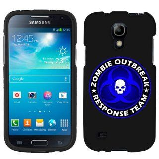 Samsung Galaxy S4 Mini Zombie OutBreak Response Team Blue on Black Phone Case Cover Cell Phones & Accessories