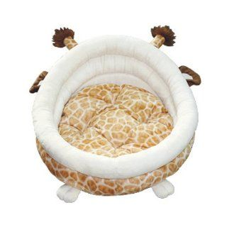 indoor pet cat dog cushion bed tent house ~giraffe