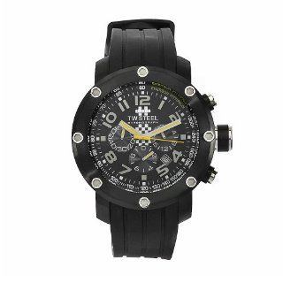TW Steel Men's TW609 Emerson Fittipaldi Edition Black Rubber Chronograph Dial Watch at  Men's Watch store.