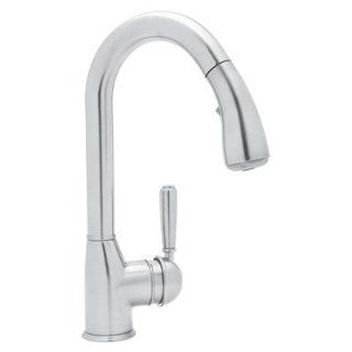 Rohl R7504SLM APC 2 Polished Chrome Classic Classic Kitchen Faucet with Pull Out Spray and Metal Lever Handle R7504SLM 2 Kitchen & Dining