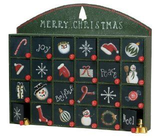 Merry Christmas Rustic Wooden Advent Calendar   Christmas Decor