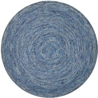 Safavieh IKT633A Ikat Collection Wool Round Area Rug, 6 Feet, Dark Blue and Multicolor   Handmade Rugs