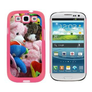 Stuffed Plush Animals Teddy Bear Toys   Snap On Hard Protective Case for Samsung Galaxy S3   Pink Cell Phones & Accessories