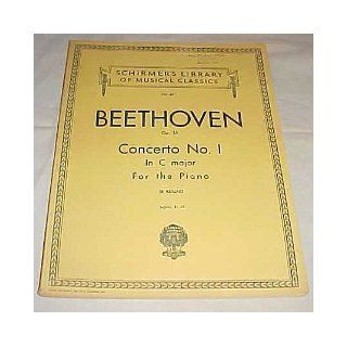 Schirmer's Library of Musical Classics 621 Beethoven Op. 15 Concerto No. 1 in C Major For The Piano 1929 Ludwig Van Beethoven Books