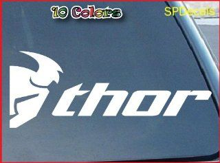 "Thor Motocross Car Window Vinyl Decal Sticker 12"" Wide (Color White)"
