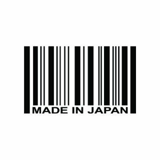 (2x) Made in Japan Barcode  Sticker   Decal   Die Cut Automotive