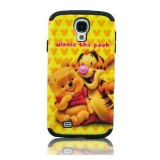 I Need (TM) Stylish 2 In 1 Winnie the Pooh & Tiger Hard Cover Hybrid Black Soft Silicone Case Cover Compatible for Samsung Galaxy S4 I9500 Cell Phones & Accessories