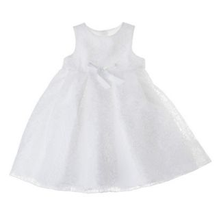 Tevolio Infant Toddler Girls Sleeveless Lace Overlay Dress   White 18 M