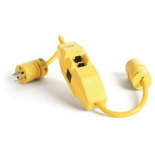 Woodhead 30051 1 Super Safeway GFCI Plug and Connector, Commercial Duty, NEMA L5 30 Configuration, 10/3 SJTW Cord Type, 30A Current, 240V Voltage, 2ft Cord Length Electric Plugs