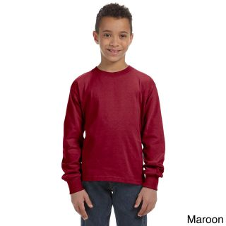 Fruit Of The Loom Fruit Of The Loom Youth Heavy Cotton Hd Long Sleeve T shirt Brown Size L (14 16)