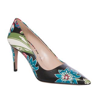 Prada Floral print Leather Point toe Pumps