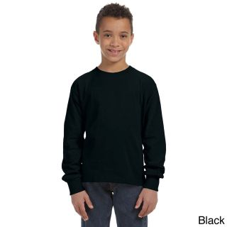 Fruit Of The Loom Fruit Of The Loom Youth Heavy Cotton Hd Long Sleeve T shirt Black Size L (14 16)