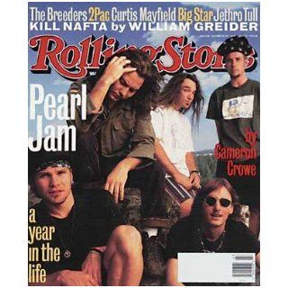 Rolling Stone Magazine, Issue 668, October 1993, Pearl Jam Cover Jann S Wenner Books
