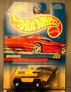 Mattel Hot Wheels 1998 164 Scale Yellow Digger Die Cast Car Collector #643 Toys & Games