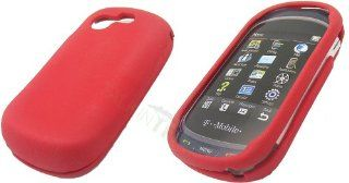 SAMSUNG T669 GRAVITY RED GEL NO SLIP GRIP SKIN Cell Phones & Accessories