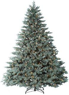 "7.5' x 72"" Colorado Blue Spruce Tree, Staylit, Clear   Christmas Trees"