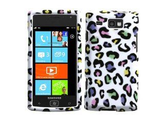 Colorful Rainbow Leopard Crystal 2d Hard Protector for Samsung Focus Flash Windows Smartphone Sgh i677 Cell Phones & Accessories