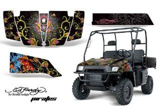 AMR Racing Polaris Ranger XP Ed Hardy Pirates   Silver 2005 2008 UTV Graphics Kit Automotive