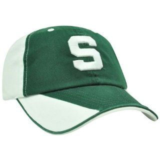 NCAA Michigan State Spartans Flip Green Sun Buckle Garment Wash Relaxed Hat Cap  Sports Fan Baseball Caps  Sports & Outdoors