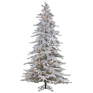 Vickerman Flocked White Spruce 4.5 Artificial Christmas Tree with 225