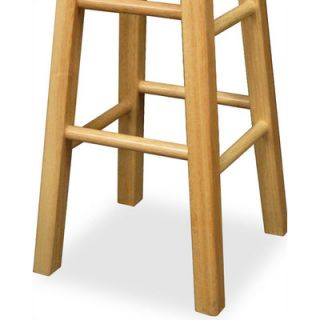 Winsome 29 Backless Square Leg Bar Stool (Set of 2)