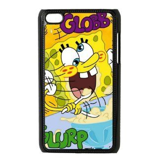 Cartoon SpongeBob SquarePants Personalized Music Case Ipod Touch 4th Case Cover for Ipod Touch 4th Generation IT4SS104   Players & Accessories