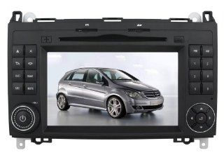"Koolertron For Benz A class B class 7"" Touchscreen DVD Player with GPS Navigation and Bt Ipod Fm PIP RDS  Vehicle Dvd Players"