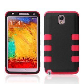 HELPYOU Red Samsung Note III New Hybrid 3 in 1 Heavy Duty Black Hard Case And Soft Silicone Rubber Skin Protector Cover for Samsung Galaxy Note 3 III N9000 Cell Phones & Accessories