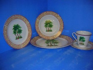 PALM TREE 20pc Dinner Set PALMS Dishes Dinnerware NEW Kitchen & Dining