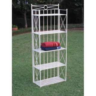 Tier Wrought Iron Indoor/Outdoor Bakers Rack