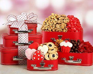 Sweet Valentine Gift Basket   Gift Basket for Women  OR  Valentines Day Gift Basket for Girlfriend, Wife For Her.  Other Products