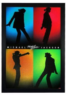 "Michael Jackson, Silhouettes Shadow 24""x36"" Framed Celebrity Poster (E1 1084)   Prints"
