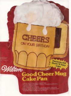 Wilton Cake Pan Good Cheer Mug/Beer Mug (502 3965, 1984) Novelty Cake Pans Kitchen & Dining