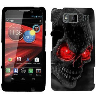 Motorola Droid Razr MAXX HD Red Eye Skull Hard Case Phone Cover Cell Phones & Accessories