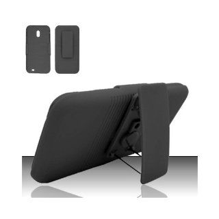 Black Heavy Duty Holster Cover Case for Samsung Galaxy S2 S II Sprint Boost Virgin SPH D710 Epic Touch 4G Cell Phones & Accessories