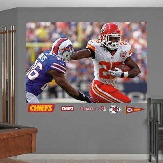 (48x72) Kansas City Chiefs Jamaal Charles In Your Face Mural Decal Sticker   Prints