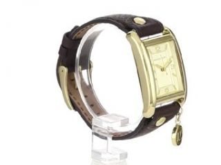 Michael Kors Watches Michael Kors Ladies Leather Rectangle with Charm (Brown) Michael Kors Home & Kitchen