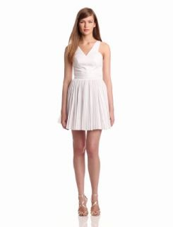 Robert Rodriguez Women's Pleated Cut Out Dress, White, 10