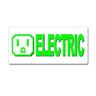 Electric Car   Window Bumper Sticker Automotive
