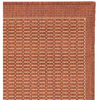 Couristan Recife Saddle Stitch/TerracottaNatural Rug