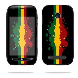Protective Vinyl Skin Decal Cover for Nokia Lumia 710 4G Windows Phone T Mobile Cell Phone Sticker Skins Rasta Flag Cell Phones & Accessories