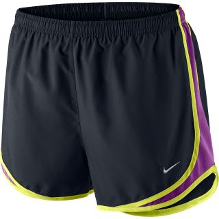 NIKE Womens Tempo Running Shorts   Size Medium, Black/grape