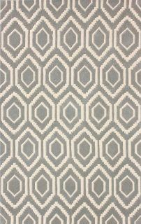 Safavieh CHT731E Chatham Collection Area Rug, 5 Feet by 8 Feet, Grey and Ivory   Wool Area Rugs